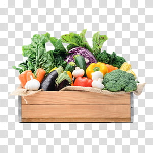 berbagai sayuran di atas peti, Sayuran Buah Toko kelontong Makanan, Sayuran dan keranjang buah-buahan png