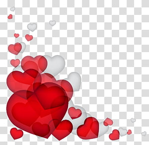 Undangan pernikahan, Hati Hari Valentine, Dekorasi Hati, ilustrasi hati merah dan putih png