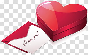 surat cinta putih dengan seni amplop, Hadiah Hari Valentine, Kotak Hati dengan Surat png