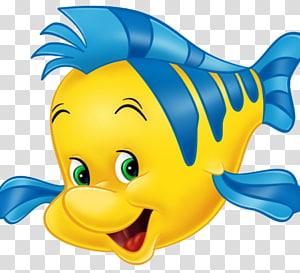 ilustrasi tersenyum ikan kuning, Ariel Sebastian Ratu Athena King Triton Flounder, putri duyung ariel png
