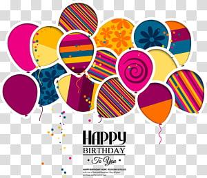 Undangan pernikahan Kue ulang tahun, Kartu ucapan, balon ulang tahun kartun, ilustrasi balon ulang tahun png