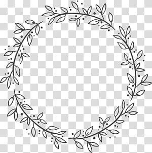 Euclidean Leaf Wreath Flower, kotak hiasan daun, bingkai desain digital floral abu-abu PNG clipart