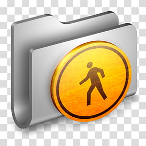 ilustrasi tanda jalan abu-abu dan kuning, font kuning simbol, Public Metal Folder png