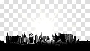 matahari terhadap seni cityscape, Kota: File Komputer Skylines, cakrawala Kota PNG clipart