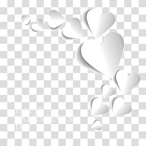 Ruang tiga dimensi film 3D Stereoskopi Jantung, Perbatasan Jantung 3D Stereoskopi, potongan hati putih Selamat Hari Kasih Sayang PNG clipart