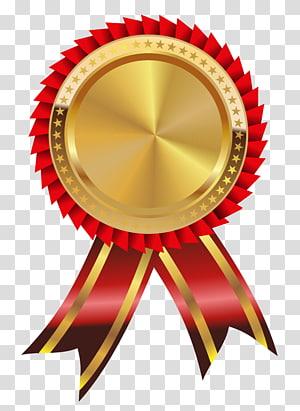 Ikon Emas Papua Nugini Ikon, Medali Emas dan Merah, pita emas dan merah png
