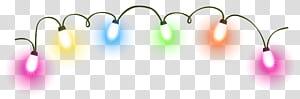 Lampu Natal Pencahayaan Animasi, Lampu Natal, lampu string warna-warni png
