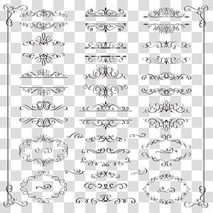bunga hitam, ilustrasi Ornament Illustration, bahan desain pola renda bergaya Eropa png