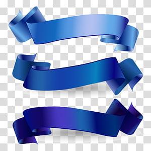 Pita kesadaran Pita biru Pita web, Pita Biru, tiga pita busur biru png
