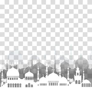 Ilustrasi Masjid Ramadhan Islam, arsitektur masjid Islam, ilustrasi masjid putih png