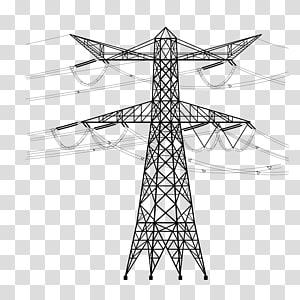 sketsa menara transmisi, Tiang listrik utilitas Saluran listrik overhead Kabel listrik tegangan tinggi, kabel menara saluran tegangan tinggi png