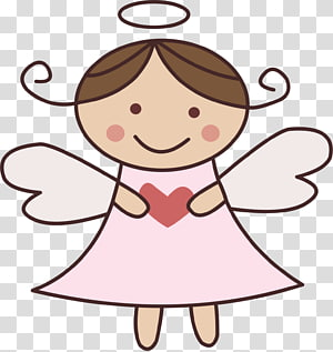 ilustrasi malaikat dalam gaun merah muda, Pembaptisan Karikatur Menggambar Komuni Pertama, bayi malaikat png