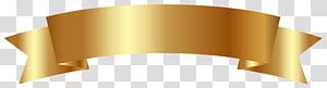 Spanduk Emas, ilustrasi spanduk emas PNG clipart
