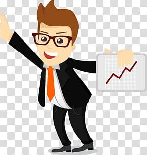 ilustrasi memegang papan pria, Bisnis Manfaat karyawan Organisasi Manajemen Perusahaan, Kartun salesman bisnis png