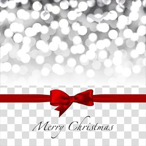 Poster Natal yang merry, dekorasi Natal, Hadiah pita merah, elemen kartu Natal png