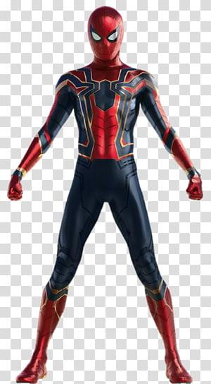 Marvel Iron Spider, Iron Man Spider-Man Hulk Thanos Black Widow, menggambar avengers png