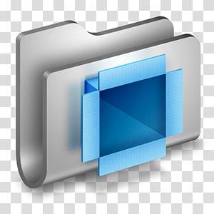 dudukan file biru dan abu-abu, font multimedia sudut, Folder Logam DropBox png