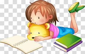 ilustrasi buku bacaan anak, Keterampilan Belajar Anak Ilustrasi, Anak membaca png