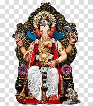 Mumbai Lalbaugcha Raja Ganesha Hanuman Ganesh Chaturthi, Sri Ganesh, patung Ganesha png