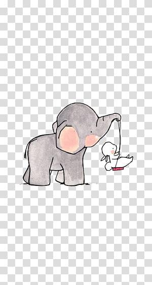 cetakan binatang, gajah yang membawa ilustrasi kelinci putih png
