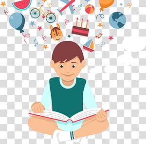 ilustrasi buku bacaan anak laki-laki, Membaca Euclidean Siswa, Membaca siswa png