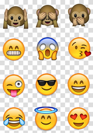 dua belas ilustrasi emoji, Emoji Emoticon Smiley WhatsApp, emoji png