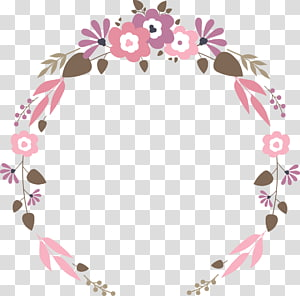 ilustrasi bunga karangan bunga datar pernikahan, ungu dan pink karangan bunga PNG clipart