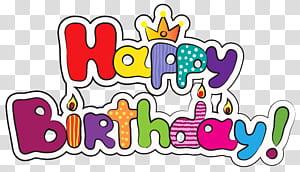 Kue ulang tahun, Colorful Selamat Ulang Tahun, hamparan teks Selamat Ulang Tahun png