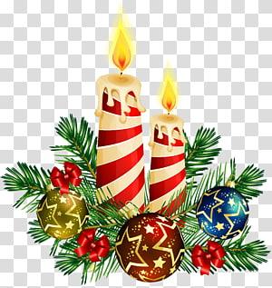 Lilin pohon Natal, Seni Lilin Natal, lilin Natal dengan ilustrasi dekorasi pernak-pernik png