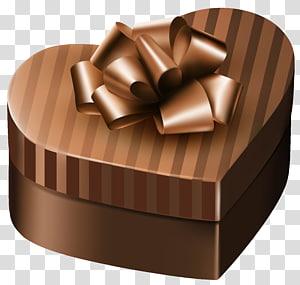 kotak hati coklat dengan pita, Kotak Hadiah Ungu, Kotak Hadiah Mewah Coklat Hati png