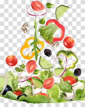 sepotong sayuran, salad Yunani bar Sayuran Makanan Salad, salad png