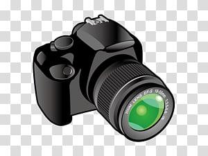 kamera hitam DSLR, Ikon lensa Kamera, kamera SLR png