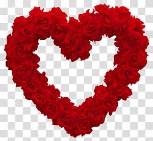 Heart Rose Valentine Day Pink, Rose Heart, karangan bunga mawar berbentuk hati png