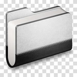 buku putih dan hitam, persegi panjang perangkat keras, Llibrary Metal Folder png