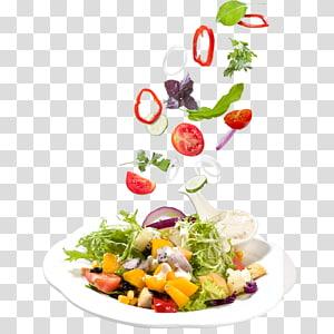 salad sayuran di piring, salad salad buah mangkuk Yunani, salad png