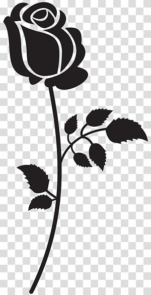 ilustrasi bunga mawar hitam, Lagu Siluet, Rose Siluet PNG clipart