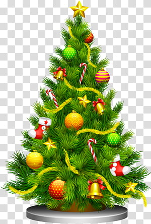 Pohon Natal, Pohon Natal, ilustrasi pohon Natal hijau PNG clipart