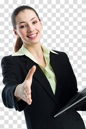 wanita mengenakan setelan hitam memegang komputer laptop, Sekretaris Bisnis Digital Kantor Perusahaan, wanita bisnis png
