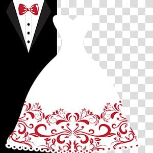 Undangan Pernikahan Mempelai Pria Gaun pengantin, jas pengantin wanita, gaun pengantin disamping ilustrasi tuksedo PNG clipart