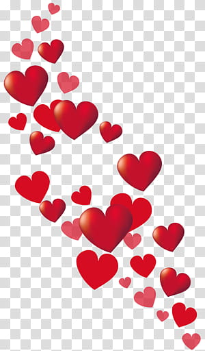 Heart Valentine's Day, Valentine Hearts Decor, latar belakang putih dengan hati merah png