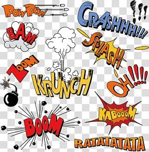 ilustrasi crassh, booom, bam, powpow, Pola ledakan png