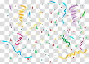 Kue ulang tahun, Confetti, confetti dengan latar belakang biru png
