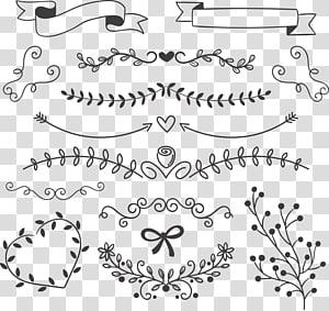 Ikon Gambar Euclidean, daun hitam dengan pita, karya seni hitam png