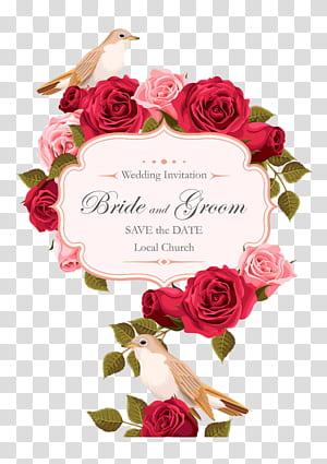 Undangan pernikahan Rose Euclidean, Rose painted birds, screenshot pernikahan undangan karya seni digital png