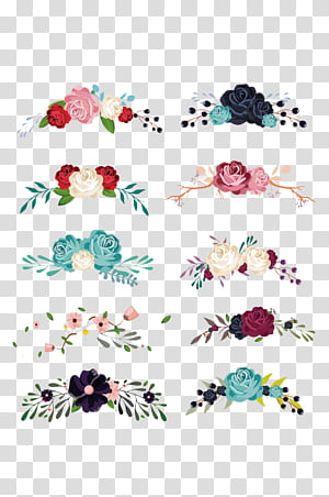 Bunga Euclidean, bahan koleksi dekorasi bunga, ilustrasi bunga png