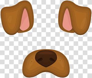 brown dog snap chat, Anjing Perbatasan Collie Dogo Argentino, Masker Wajah Anjing PNG clipart