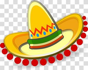 ilustrasi sombrero, Sombrero Konten gratis Hat, Sombrero PNG clipart