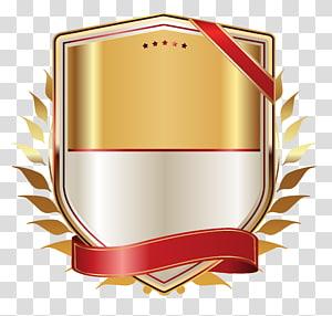 Pita Kertas Label, Label Emas dengan Pita Emas, peringkat logo permainan PNG clipart