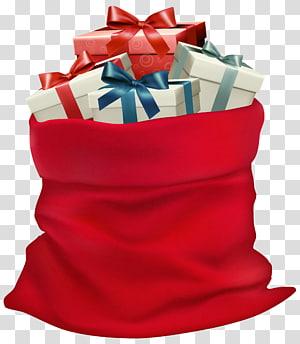 ilustrasi tas hadiah, Santa Claus Father Christmas, Christmas Karung dengan Hadiah png