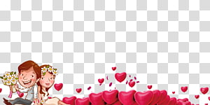 ilustrasi pasangan, Poster Pernikahan Romantis Signifikan lainnya, Poster bingkai berbentuk hati PNG clipart
